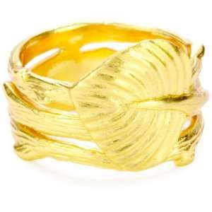 gorjana Raleigh Gold Plated Leaf Ring Jewelry