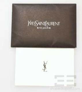 YSL Yves Saint Laurent Taupe Suede Nadja Rose Flap Shoulder Bag