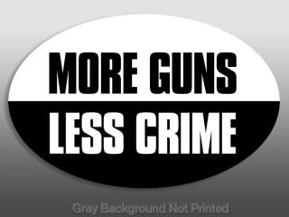 More Guns, Less Crime Sticker  pro gun decal decals 2nd