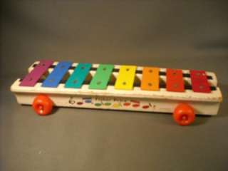 1978 FISHER PRICE WOOD MUSICAL XYLOPHONE PULL TOY
