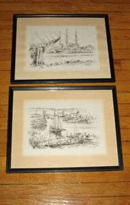 JAS(JAMES)F MURRAY SIGNED SAIL BOATS NEW ENGLAND VISTA