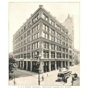 1893 Print W. & J. Sloane Building Broadway New York