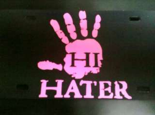 HI HATER  DECAL  SOFT PINK   HATER STICKERS   HI HATERS