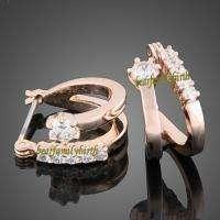 SWAROVSKI Crystals 18k gold GP Earrings studs 739