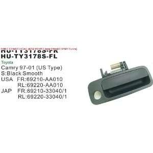 97 01 TOYOTA CAMRY OUTSIDE DOOR HANDLE FRONT LEFT (DRIVER SIDE) BLACK