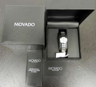 New Authentic Ladies Movado Modo 0605767 Quartz Watch with Box