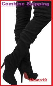 Fashion Sexy Platform Thigh High Heel Women Boots Shoes