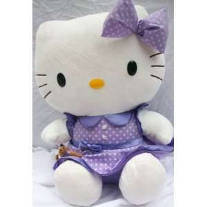 20 Plush Hello Kitty Jumbo Doll Toy in Purple Dress Toy Toys & Games