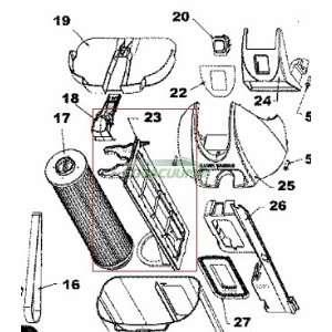 Hoover EmPower Model U5262 910 Pre Filter Support Assemble