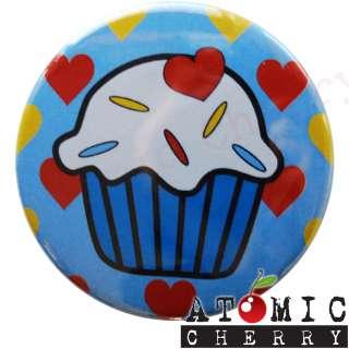 Compact Mirror Cupcake Blue Rockabilly Tattoo Punk New