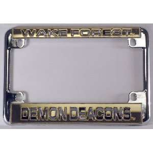 Deacons Chrome Motorcycle RV License Plate Frame