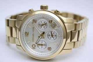New Michael Kors Runway Chronograph Gold Women Mid Size Watch 38mm