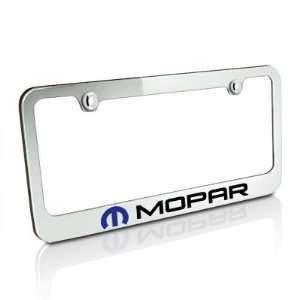 Mopar Logo Chrome Metal License Frame