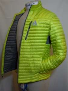 NWT Eddie Bauer Mens MicroTherm Down Shirt First Ascent Limeade 800FP