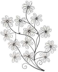 Daisy Crystal Flower Wall Sculpture Home Decor 36 NEW #U64649