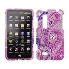 Pink Purple CRYSTAL RHINESTONE DIAMOND BLING COVER CASE 4 LG Thrill 4G