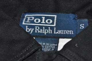 Polo Ralph Lauren black/white DRAGON crest padded embroidered rugby