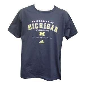 Michigan Wolverines Navy Established Mens Short Sleeve T