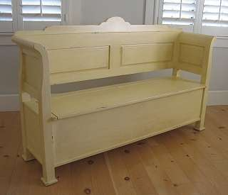 SOLID WOOD Hudson Cottage BENCH 30 Distressed Country Paints Old World