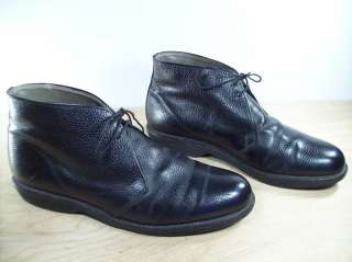 Vintage LL BEAN CHUKKA Hunting Leather Sport Black Boots size 10.5