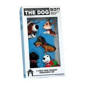 THE DOG Artlist   2 Mini Holiday Ornaments   Beagle