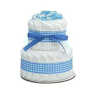 Mini Blue 2 Tier Diaper Cake Baby