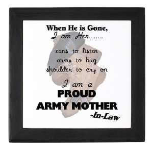 Proud Army Mom In Law Military Keepsake Box by