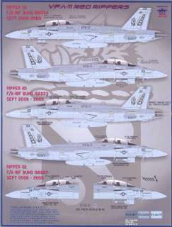 Fightertown Decals 1/48 F/A 18F SUPER HORNET VFA 11 Red Rippers