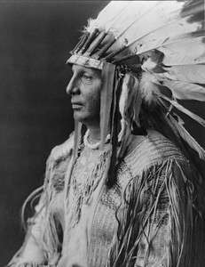 NATIVE AMERICAN INDIAN CHIEF WHITE SHIELD ARIKARA 1905 PHOTO WESTERN