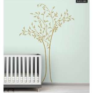 Berry Tree Black Label Wall Decal Color Metallic Gold