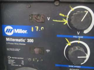 Miller Millermatic 300 Mig Welder 300amp with gun 2004
