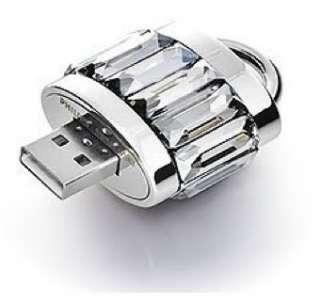 Swarovski~Philips~ USB Flash Drive~Memory Key~Clear Crystal LOCK ~ $