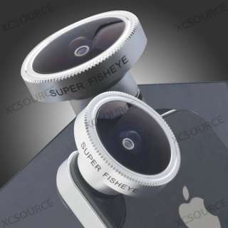 185° Detachable Fish Eye Camera Lens for iPhone 4 4S 4G itouch HTC