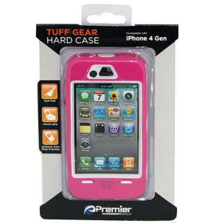 Premier TUFF GEAR Hard Case Skin for Apple iPhone 4 4S Durable Pink