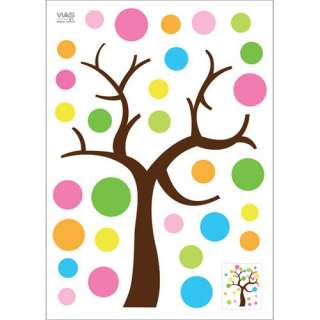 Polka Dot Magic Tree Wall Decor Sticker Removable Decal