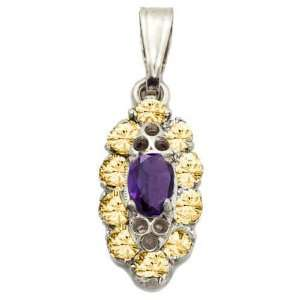 Masini Ladies Pendant in White 18 karat Gold with Violet