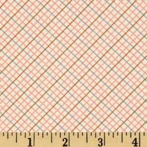 44 Wide Sophie And Friends Plaid Diamonds Natural Fabric