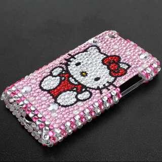 Hello kitty Bling Back full Cover Case for iPhone 4G 4S