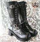GOTH PUNK Cosplay JBD VISUAL KEI V STUD BOOT 7/7.5 23.5