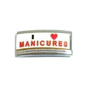 Superlink I Love Manicures Italian Charm Bracelet Jewelry