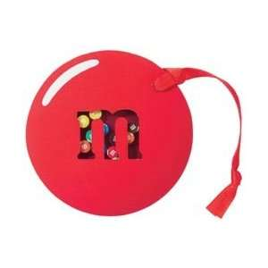 M&M Candy Red Chocolate Candy Shaker Box for Scrapbooking