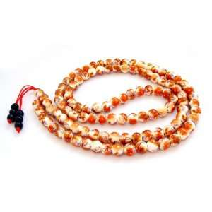 Porcelain Beads Tibetan Buddhist Prayer Japa Mala Necklace Jewelry