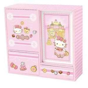 Japanese Sanrio Hello Kitty Musical Jewelry Chest Castle