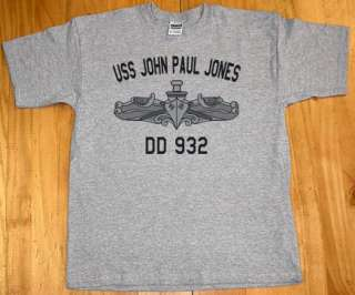 US USN Navy USS John Paul Jones DD 932 T Shirt
