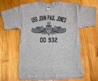 US USN Navy USS John Paul Jones DD 932 T Shirt