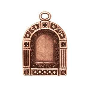 Antiqued Copper Plated Pendant Frame Doorway 30.5mm (1