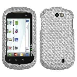 For T Mobile LG DoublePlay Crystal Diamond BLING Hard Case Phone Cover