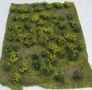 JTT SCENERY 95605 FLOWERING MEADOW YELLOW 5 X 7 SHEET HO / O SCALE