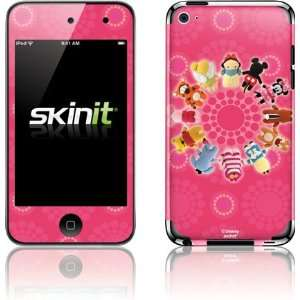 Pook a Looz Pink Polka Dot Circle skin for iPod Touch (4th