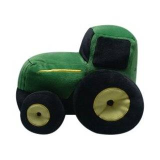 John Deere Pickles 12 Inches Long Plush Shaped Pillow, Green Tractor
